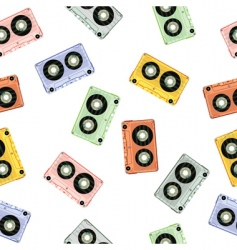 audio tapes background vector image