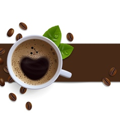 Banner with Coffee Cups vector image