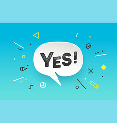 banner yes banner no speech bubble poster vector image