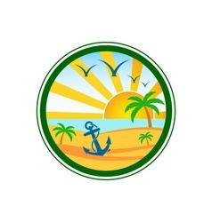 beach-club-logo vector image