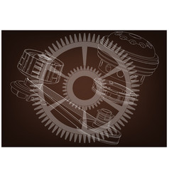 belt gear vector image