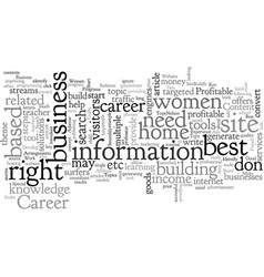 best home based business for career women vector image