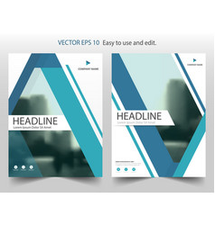 blue abstract annual report brochure design vector image