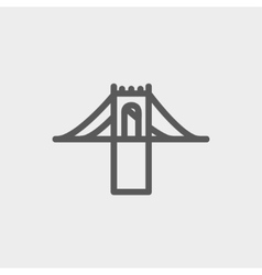 Bridge thin line icon vector