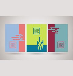 brochures or banner spuzzle design vector image
