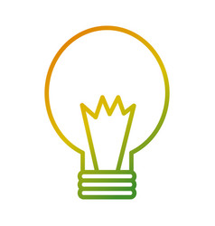 bulb energy power light icon vector image