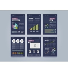 Business brochure template Annual report vector