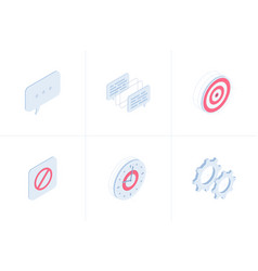 business isometric icon set vector image