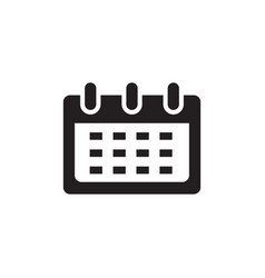 calendar icon in flat style for apps ui websites vector image
