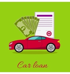 Car Loan Approved Concept vector image