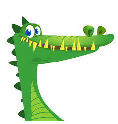 cartoon crocodile character vector image