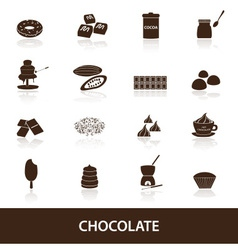 Chocolate icons set eps10 vector
