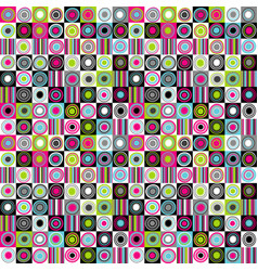 colorful background with dots circles and stripes vector image