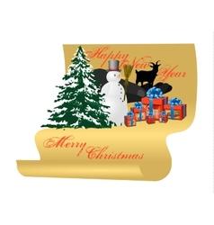 Congratulations on Christmas card vector image