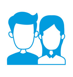 cute couple cartoon vector image