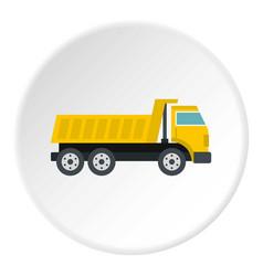 dumper truck icon circle vector image