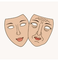 Facial plastic surgery vector