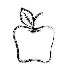 Figure delicious apple healthy fruit vector