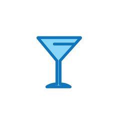 flat icon drink glass vector image
