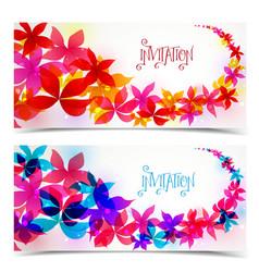 Floral color design vector