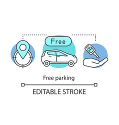 Free hotel parking concept icon vector