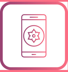 Gallery mobile application icon vector