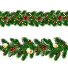 Garlands fir tree vector