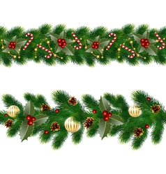 garlands of fir tree vector image