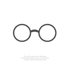 glasses icon flat design11 vector image