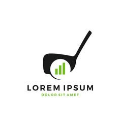 golf course training development chart bar logo vector image