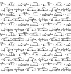 Hand drawn pattern with colourful cars vector