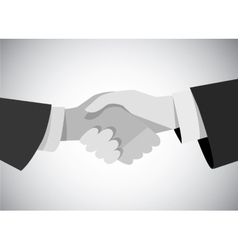 Handshake business man hand gray scale flat vector