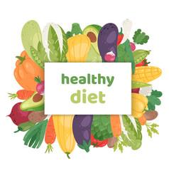 healthy vegetarian diet fresh vector image