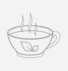 herbal tea icon line element vector image