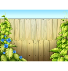 High wooden fence vector