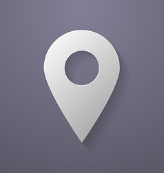 Icon of map pointer Paper style vector