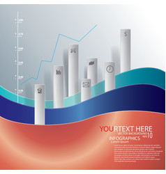 infographic graph vector image
