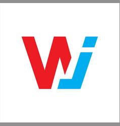 Initial wj letter logo vector
