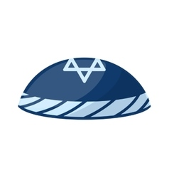 Jewish hat vector image