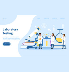 laboratory testing with medical staff vector image