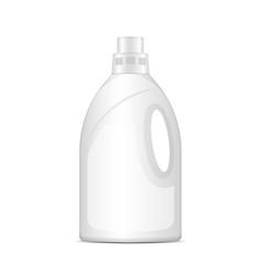 Laundry detergent plastic bottle realistic vector