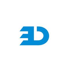 letter bd simple geometric logo vector image