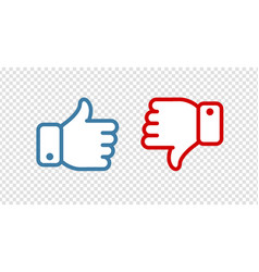 like and dislike symbol or icon vector image