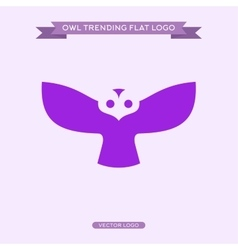 Logo owls in flat style vector image
