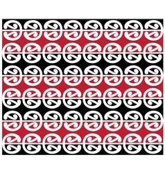 Maori Kowhaiwhai Pattern Design vector image