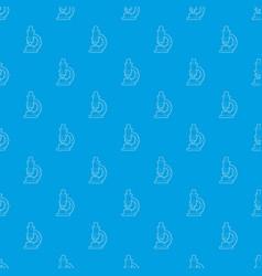 microscope pattern seamless blue vector image
