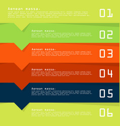 Modern strips infographics 10 options banner for vector