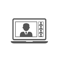 online meetings work from home teleconference vector image