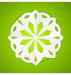 paper christmas snowflake vector image