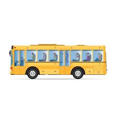 passengers traveling public bus vector image